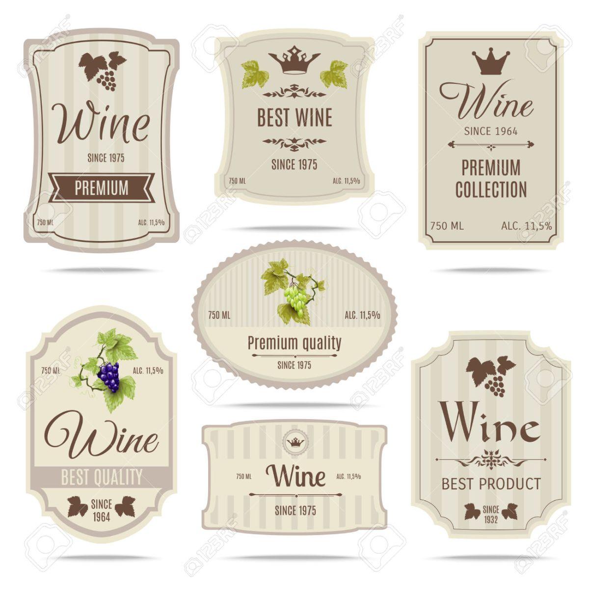 Como son las etiquetas de los vinos según el país